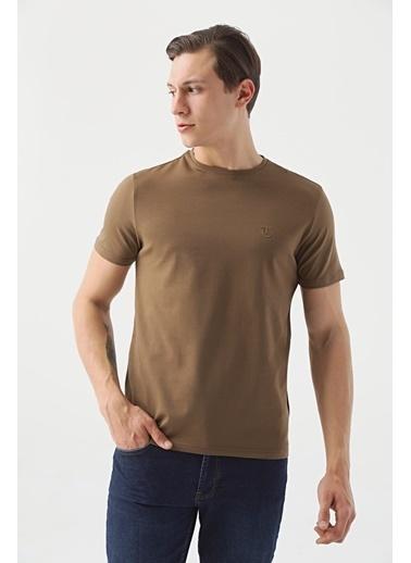 TWN Slim Fit Düz T-Shirt Vizon